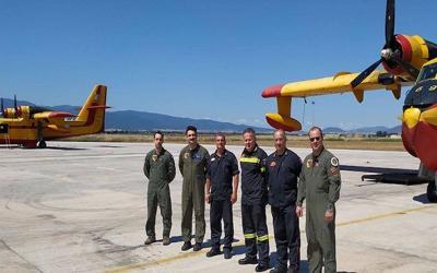 Δύο πυροσβεστικά αεροσκάφη σταθμεύουν στη Ν. Αγχίαλο