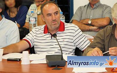 Αριστείδης Καραγεώργος, υποψήφιος δημοτικός σύμβουλος με το συνδυασμό του Δημ. Εσερίδη