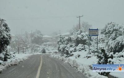 Με χιόνια αποχαιρέτησε ο Νοέμβριος τη Νοτιοδυτική Μαγνησία (βίντεο&φωτο)