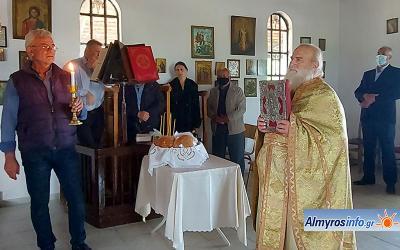 Ο εορτασμός Ανακομιδής των Ιερών Λειψάνων στον Ι.Ν. Αγίου Αθανασίου Χολορέματος Κροκίου (φωτο)