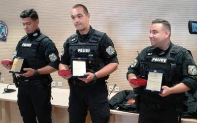 Βραβεύτηκαν οι τρεις υπαξιωματικοί της Ομάδας ΔΙΑΣ που έσωσαν 13χρονη στο Βόλο