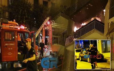 Ολονύχτιο θρίλερ με πυρκαγιά στη Θεσσαλονίκη