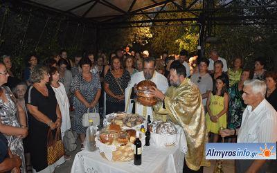Με μεγάλη συμμετοχή  πιστών ο εορτασμός της Παναγίας Ξενιάς στο Αχίλλειο (βίντεο&φωτο)