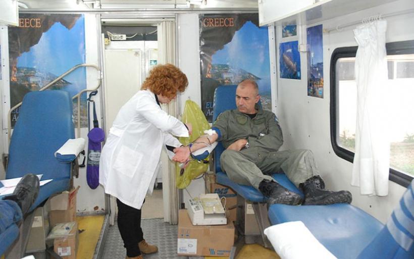 Εθελοντική Αιμοδοσία στην 111 Πτέρυγα Μάχης (φωτο)