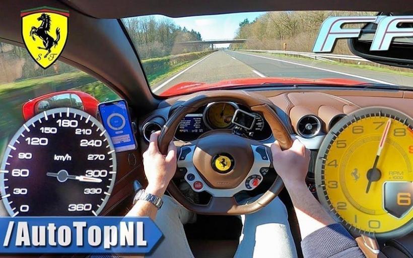 Στην autobahn με Ferrari FF (video)