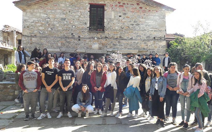 Διδακτική επίσκεψη των μαθητών του Γυμνασίου Ευξεινούπολης στην Ιερά Μονή Κάτω Παναγίας Ξενιάς