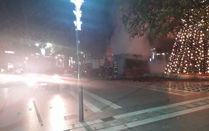 Λάρισα: Έβαλαν φωτιά στη χριστουγεννιάτικη φάτνη