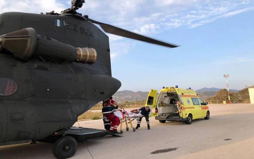 Με ελικόπτερα της 1ης ΤΑΞΑΣ η μεταφορά 25 ασθενών από νησιά σε Νοσοκομεία