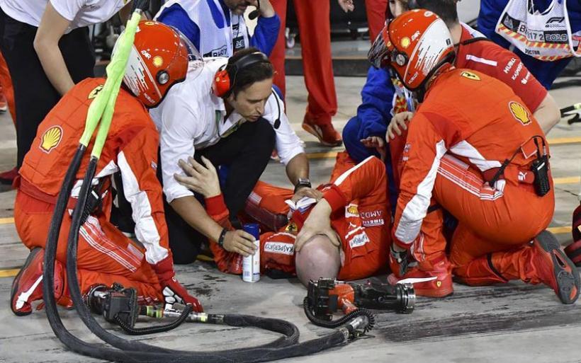 Σοκάρουν το βίντεο και οι εικόνες από τον τραυματισμό μηχανικού της Ferrari
