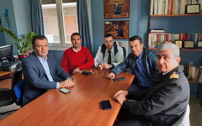 Συνάντηση Χρ. Μπουκώρου με το νέο Δ.Σ. της Ένωσης Προσωπικού Λιμενικού Σώματος Κ. Ελλάδος
