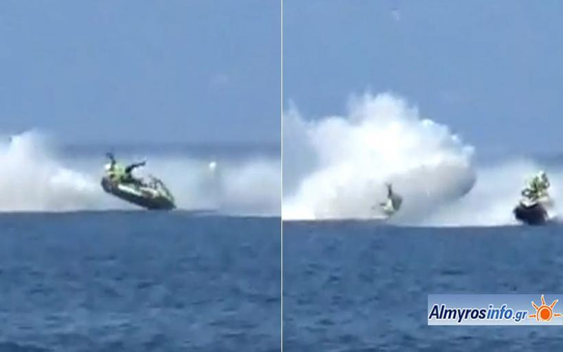 Ατύχημα που κόβει την ανάσα στους αγώνες Jet Ski στην Αμαλιάπολη (βίντεο)