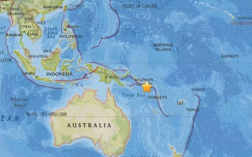Ισχυρός σεισμός στις Νήσους του Σολομώντα
