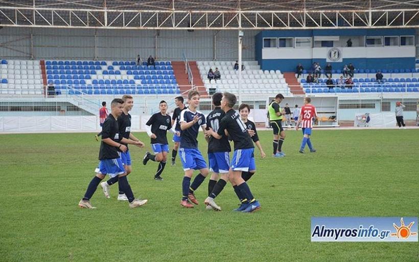 Πρώτη νίκη για την Κ-16 του Γ.Σ.Αλμυρού 2-1 την Αγ. Άννα (φωτο)