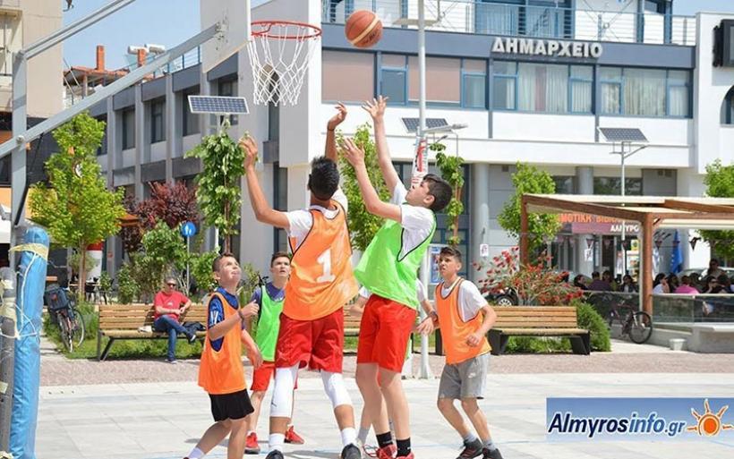 2o Τουρνουά Μπάσκετ 3on3 στην κεντρική Πλατεία Αλμυρού