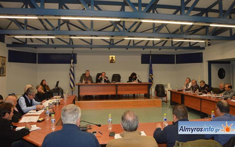 Η συζήτηση για το τεχνικό πρόγραμμα 2019 και τον προϋπολογισμό του Δήμου Αλμυρού (βίντεο)
