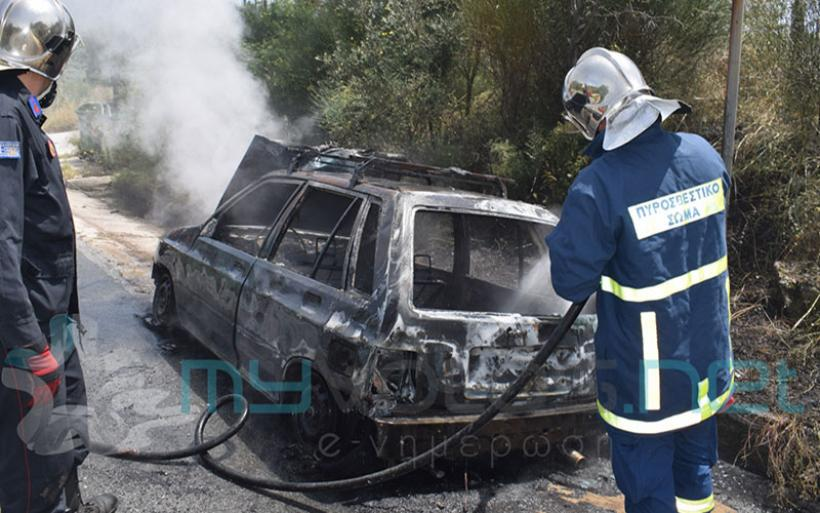 Έξι συλλήψεις από το Α.Τ. Αλμυρού για απόπειρα κλοπής καμένου αυτοκινήτου