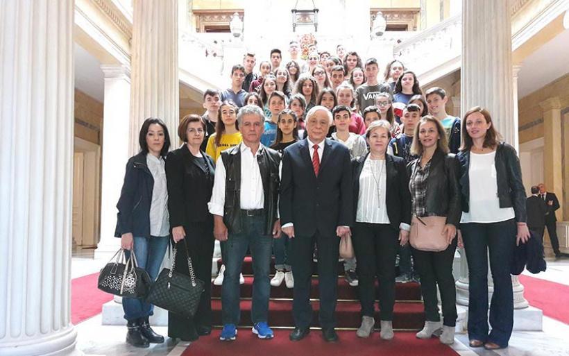 Εκπαιδευτική Επίσκεψη  του Γυμνασίου Ευξεινούπολης στη Βουλή των Ελλήνων και στο Προεδρικό Μέγαρο