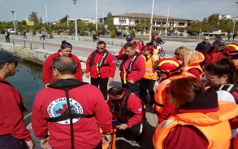 Άσκηση με τραυματισμό εργάτη σε πλωτό γερανό από την ΕΟΔ Μαγνησίας