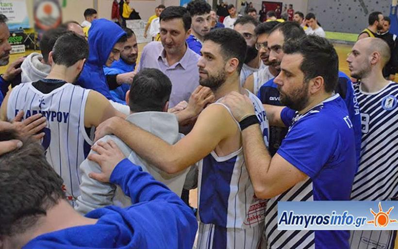 Την άνοδο στην Γ' Εθνική πανηγυρίζει η ομάδα μπάσκετ του Γ.Σ. Αλμυρού