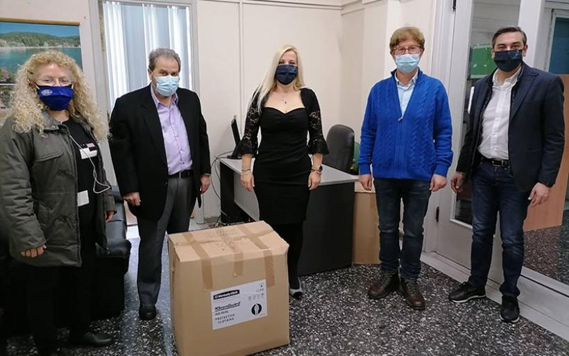 Δωρεά υγειονομικού υλικού από την ΕΚΠΟΛ σε δομές υγείας της Μαγνησίας και εθελοντικές ομάδες