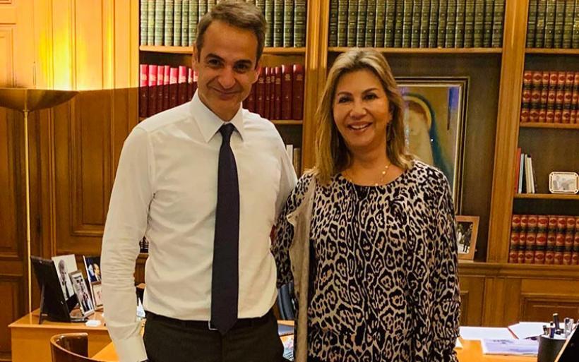 Συνάντηση Ζέττας Μακρή με τον Πρωθυπουργό Κυριάκο Μητσοτάκη