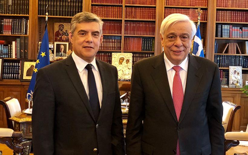 Τις ευχές των Θεσσαλών για τη νέα χρονιά μετέφερε  στον Πρόεδρο της Δημοκρατίας κ. Πρ. Παυλόπουλο ο Κ. Αγοραστός