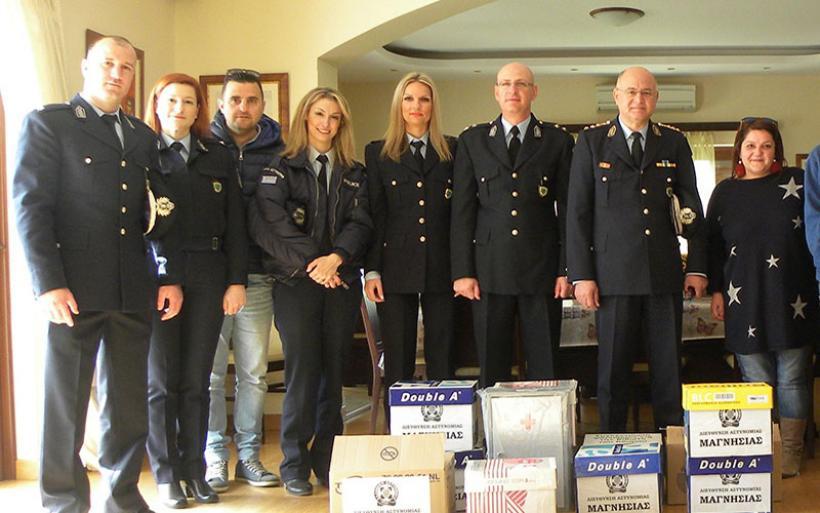 Oι αστυνομικοί της Μαγνησίας ενισχύουν την Κιβωτό του Κόσμου