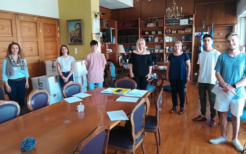 Την Αντιπεριφερειάρχη Μαγνησίας επισκέφθηκαν μαθητές του Γυμνασίου Ευξεινούπολης