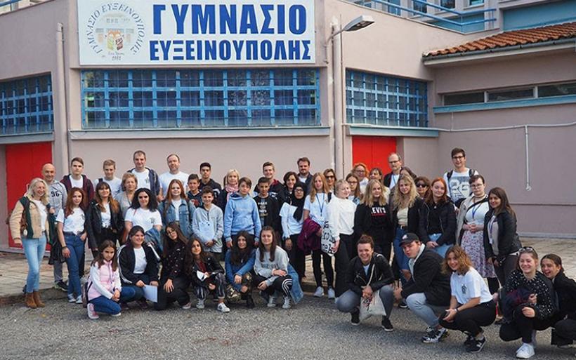 Εβδομάδα Ελληνικής φιλοξενίας στα πλαίσια του Erasmus στο Γυμνάσιο Ευξεινούπολης