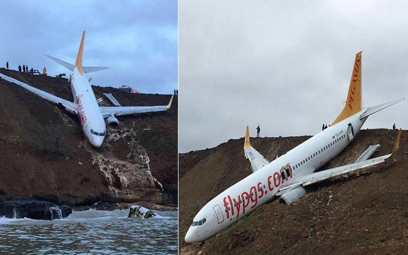Τουρκία: Αεροσκάφος με 162 επιβαίνοντες κατέληξε σε γκρεμό (video)