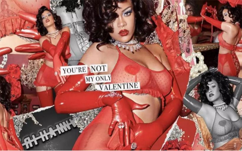 Rihanna: Ποζάρει αισθησιακά με κόκκινα δαντελωτά εσώρουχα για του Αγίου Βαλεντίνου και τρελαίνει κόσμο