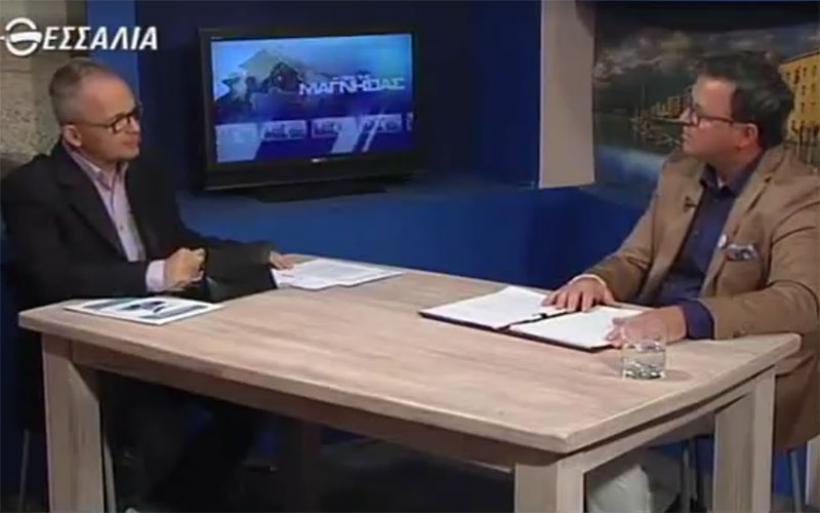 Ο πρόεδρος της Ένωσης Επαγγελματιών Βιοτεχνών και Εμπόρων Κ. Πανταζώνας στη ΘεσσαλίαTV (βίντεο)