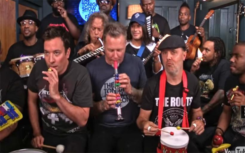 Οι Metallica «τα σπάνε» ακόμα και με παιδικά μουσικά όργανα