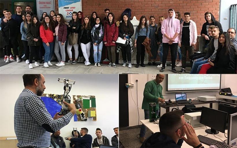Διδακτική επίσκεψη 1ου Ε.Κ. και 1ου ΕΠΑΛ Αλμυρού στα εργαστήρια ρομποτικής του Πανεπιστημίου Θεσσαλίας