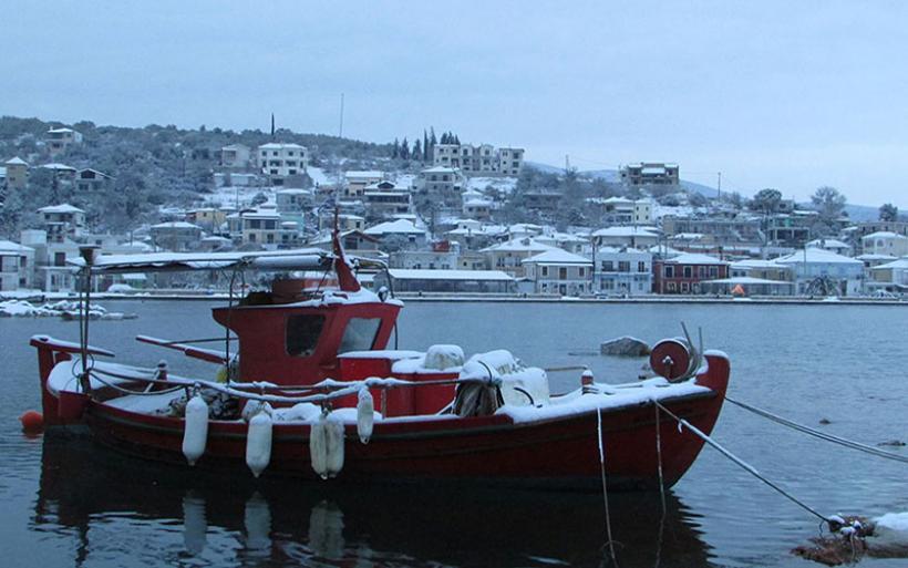 Μέχρι τη θάλασσα το χιόνι - Φωτογραφίες από το Αχίλλειο