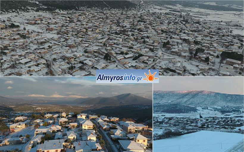 Στα λευκά η Νοτιοδυτική Μαγνησία - Εικόνες από Σούρπη, Αγ. Θεόδωροι, Αγ. Τριάδα (βίντεο&φωτο)