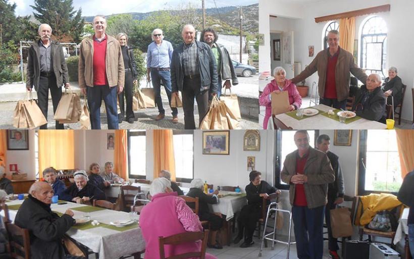 Επίσκεψη και προσφορά στο Γηροκομείο Καναλίων από τον Συνεταιρισμό Πτελεού