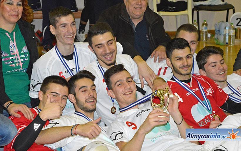 Στέφθηκε πρωταθλήτρια στο Κλειστό Αλμυρού η ομάδα εφήβων του ΣΠΑ Καρδίτσας (φωτο)