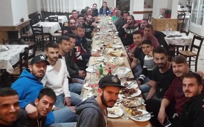 Ευχαριστήριο Α.Ε. Δήμητρας για την παράθεση δείπνου στην ποδοσφαιρική ομάδα