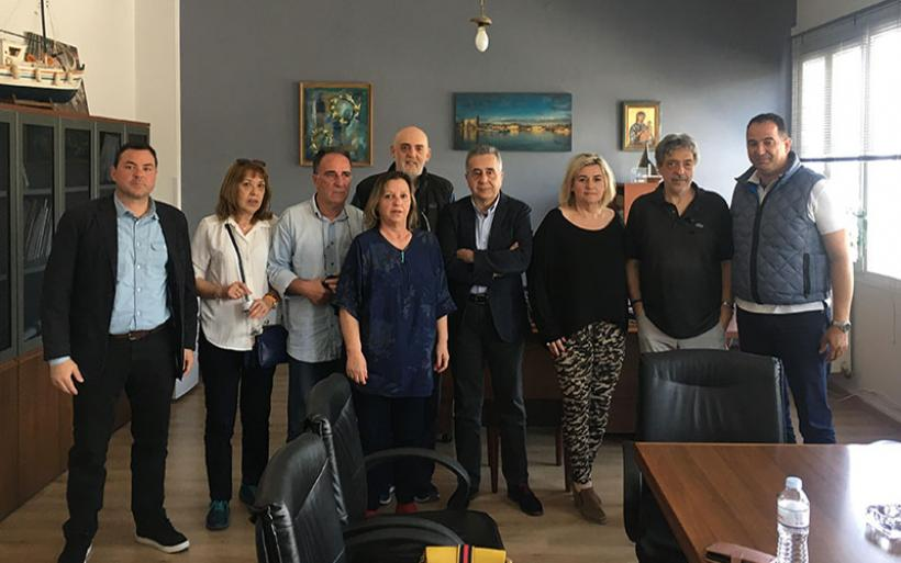 Ο Γ. Ζώγας στο κλιμάκιο υποψηφίων του συνδυασμού «Η Θεσσαλία στην καρδιά μας» που επισκέφθηκε τον ΟΛΒ
