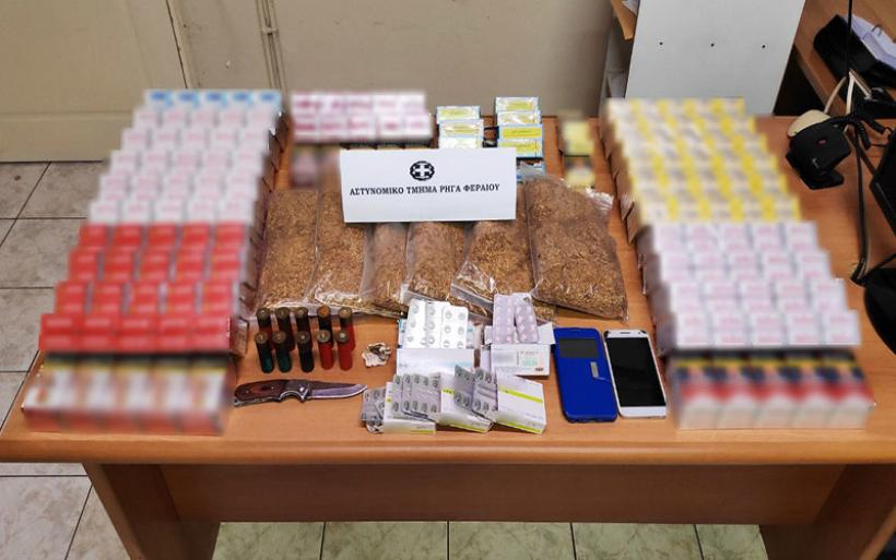 Συνελήφθησαν τρία άτομα στη Μαγνησία για παράβαση του Τελωνειακού Κώδικα και των νόμων περί όπλων και περί ναρκωτικών