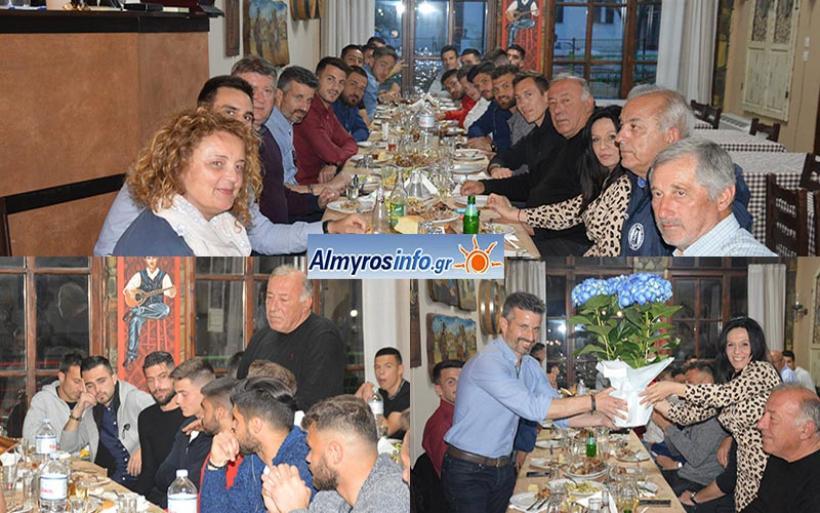 Με τραπέζι έκλεισε τη χρονιά η ποδοσφαιρική οικογένεια του Γ.Σ. Αλμυρού (βίντεο&φωτο)