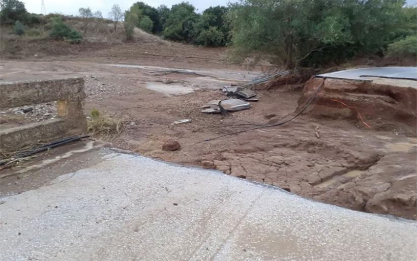 Αποκομμένα χωριά του Αλμυρού από τις κατεστραμμένες γέφυρες