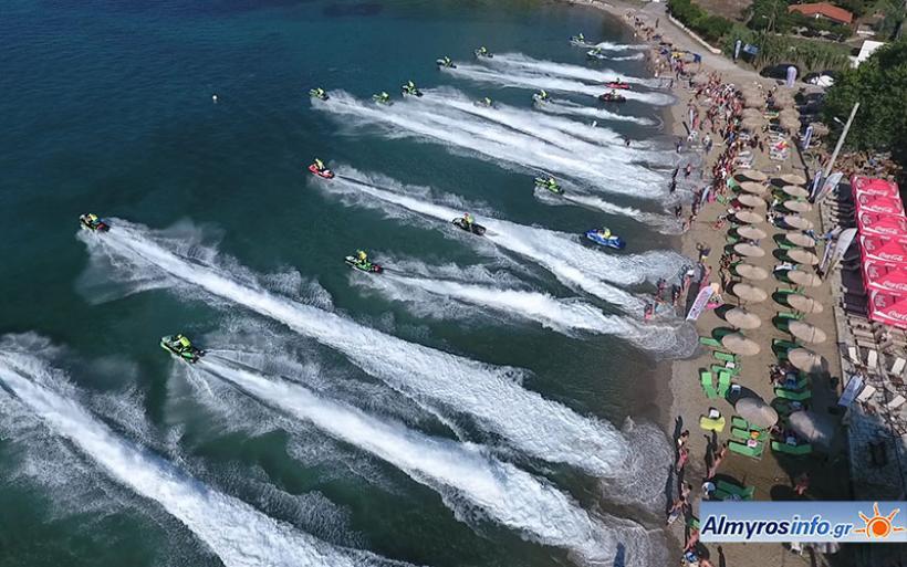 Εντυπωσιακό θέαμα στο Παγκόσμιο Πρωτάθλημα Jet Ski στην Αμαλιάπολη (βίντεο&φωτο)