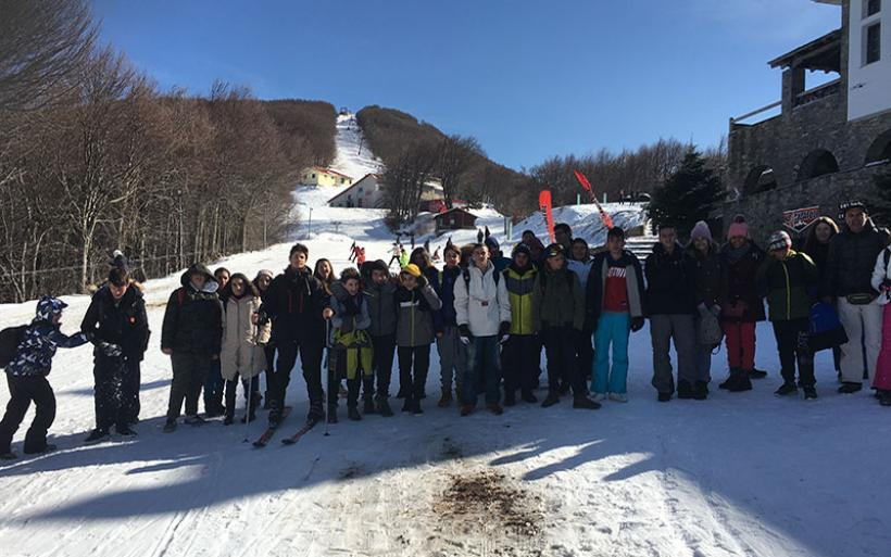 Μαθητές του Γυμνασίου Ευξεινούπολης στο Χιονοδρομικό Πηλίου