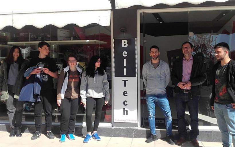 Διδακτική επίσκεψη του 1ου ΕΠΑΛ Αλμυρoύ στο κατάστημα BelliTech-Technology του Κ. Λασκαρίδη