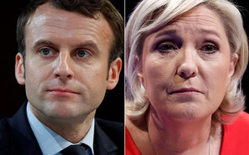Μακρόν με Λεπέν στον β' γύρο των γαλλικών προεδρικών εκλογών