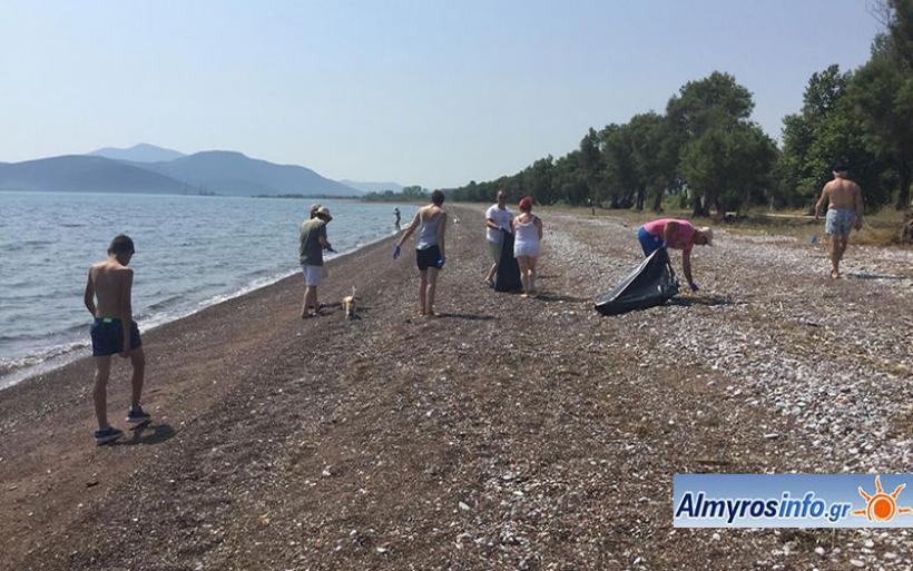 Εθελοντικός καθαρισμός της παραλίας του Αϊ Γιάννη από μέλη του Πολιτιστικού Συλλόγου Ευξεινούπολης
