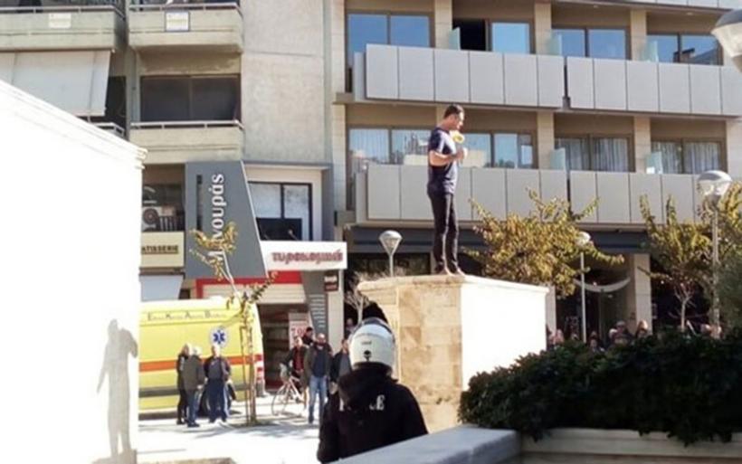 Ηράκλειο: Αίσιο τέλος στο θρίλερ με τον πατέρα που απειλούσε να αυτοπυρποληθεί