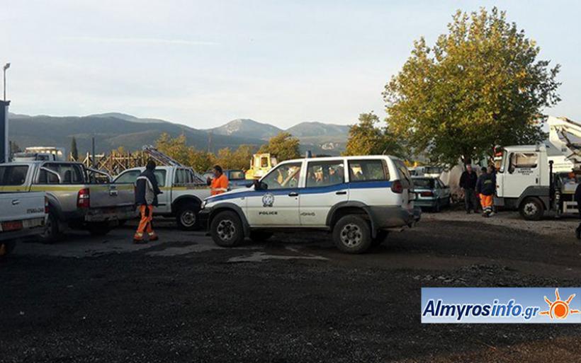 Διέρρηξαν το αμαξοστάσιο του Δ. Αλμυρού και έκλεψαν όχημα και εργαλεία (φωτο)